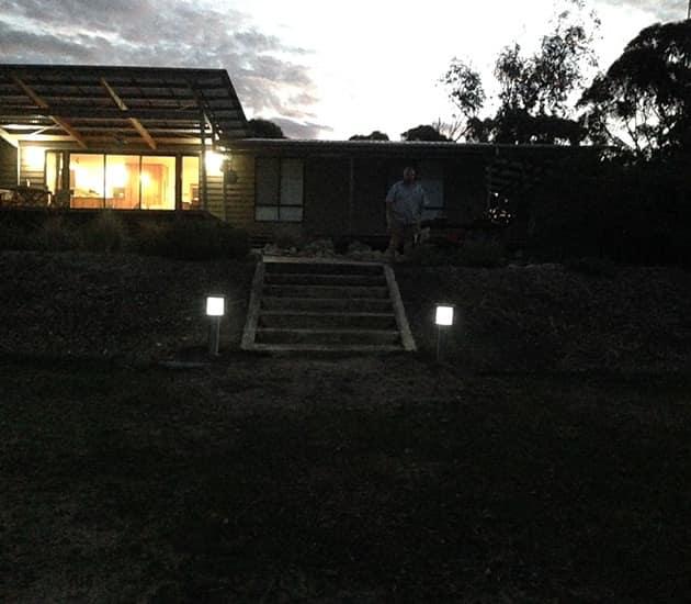 St Kilda Beach House Solar Bollards